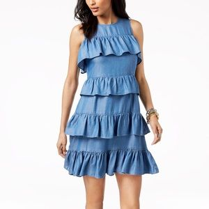 Michael Kors Ruffled Denim Dress
